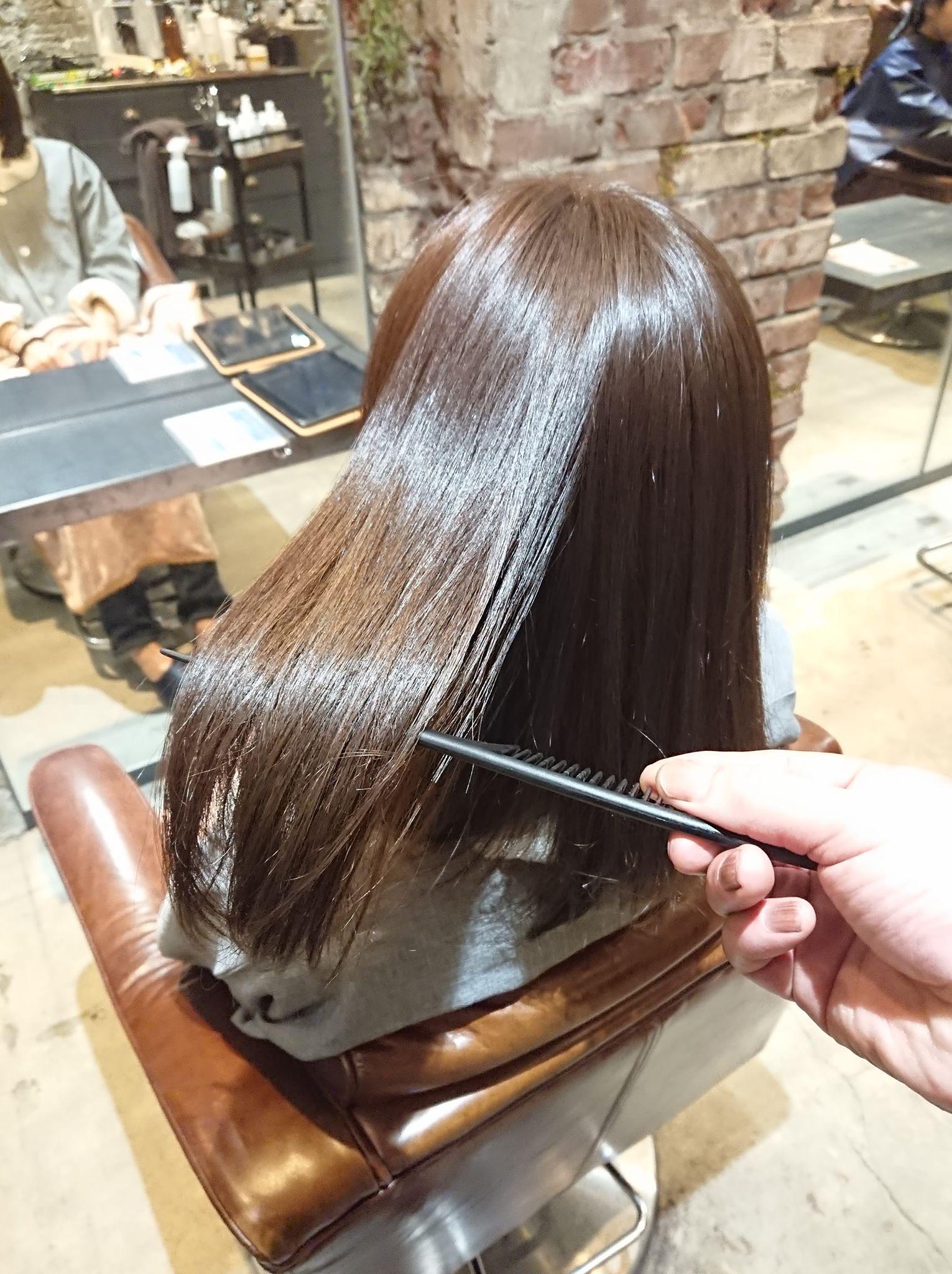 縮 毛 矯正 髪 質 改善